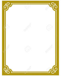 gold frame border vector. Beautiful Gold Unique Simple Gold Frame Border Vector Image  Clip Art Designs  With