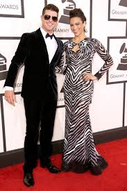 robin thicke and paula patton 2015. Beautiful Robin Robin Thicke And Paula Patton At The 2014 Grammy Awards Intended And 2015 A