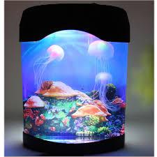 com novelty led artificial jellyfish aquarium lighting fish tank night light lamp pet supplies