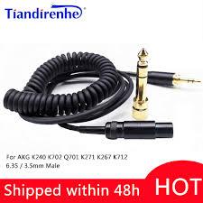 Mùa Xuân Mới Cáp Tai Nghe Cho Tai Nghe AKG K240 K702 Q701 K271 K267 K712 Tai  Nghe Thay Thế Âm Thanh Dây 6.35/3.5Mm nam Sang Mini XLR|cable for  headphones