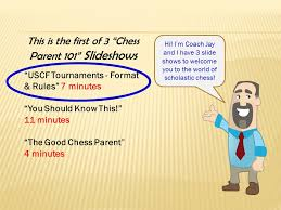 This Is The First Of 3 Chess Parent 101 Slideshows Uscf