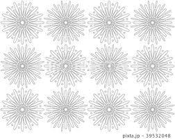 花火模様モノクロのイラスト素材 39532048 Pixta