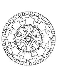 Kleurplaat Mandala Pasen Paashaas Kleurplatennl
