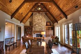 lighting for beamed ceilings. Beam Ceiling Wood Ceilings Family Room Traditional With Built In Cabinets Dark Stained Table . Lighting For Beamed