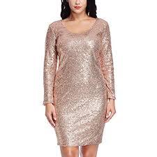 Plus Size Gold Dress Amazon Com