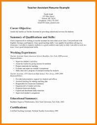 Resume Objective For Teacher General Resume Example