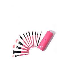 coc pink in pink makeup brush set 12 pcs set