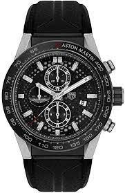 Tag Heuer Aston Martin Carrera Caliber Heuer 01 Herren Sonderedition 45 Mm Tag Heuer Amazon De Uhren