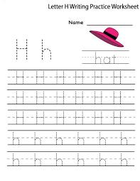 letter h worksheets for preschool e