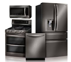 lg black stainless steel refrigerator. With 30\u201d Slide-in Ranges In Gas Or Electric, As Well The Studio Series Electric Wall Oven, You Can Cover All Bases For A Full Black Stainless Kitchen Lg Steel Refrigerator L