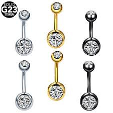 Online Shop 1PC <b>G23 Titanium</b> 14G Belly Piercings Navel Rings ...