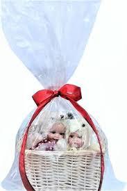 baby gift basket bag easter large clear celloph