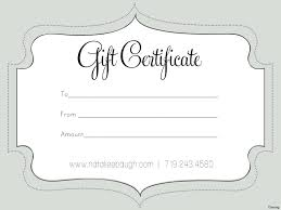 Make Your Own Gift Certificates Free Template Nail Gift Certificate Template Free 24 Printable Blank 23