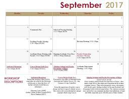 Molloy College Monthly Calendar