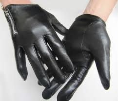 man s black tight style first grade goat leather gloves in