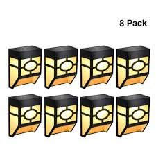 Clip On Solar Deck Lights 8 Pack Solar Led Light Outdoor Wall Lights Waterproof For Deck Fence Patio Front Door Stair Landscapeyard And Driveway Path