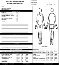 Wound Assessment Chart Template Leg Ulcer Assessment Chart Integrating Adjunctive