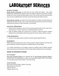 Laboratory Technician Resume Best Of Entry Level Medical Laboratory
