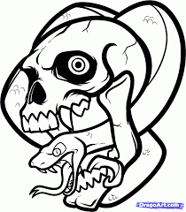 Step 7 How To Draw A Skull And Snake Skull And Snake Tattoo