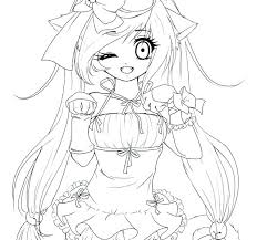 Anime Cat Coloring Pages Funny Coloring Pages Charming Cats Anime