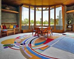 step inside a frank lloyd wright house saved from demolition frank lloyd wright style rugs