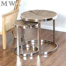 round nesting coffee table wooden top chrome round nesting tables manufacturers whole timeless wood nesting