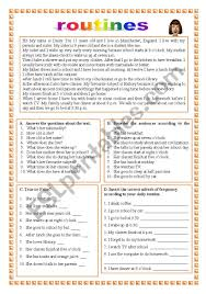 Daily Routine Chart For 9 Year Old Routines 25 08 11 Esl Worksheet By Manuelanunes3