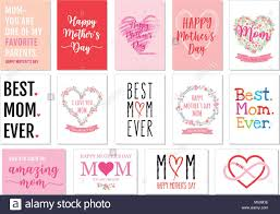 Mother S Day Graphic Design Mothers Day Cards With Hand Drawn Graphic Design Elements