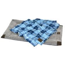 blue bed blanket set