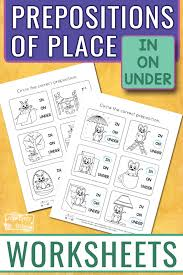 Prepositions Worksheets - Itsy Bitsy Fun