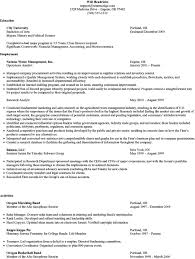 resume mba application