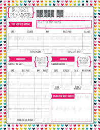 Monthly Budget Planning Budget Planner Bill And Expense Tracker List Printable