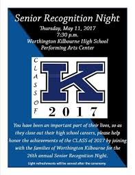 worthington kilbourne high school homepage join us for senior recognition night