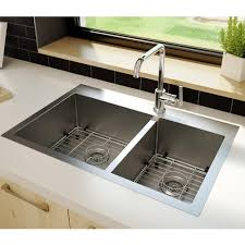 stainless steel sink double bowls round corners