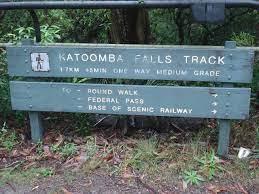 Katoomba Falls - Waterfall in the Blue ...