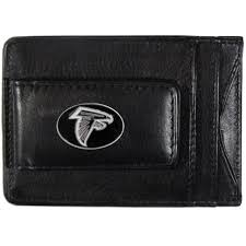 atlanta falcons fine leather money clip card cash holder nfl licensed football