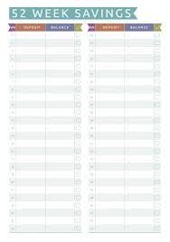Savings Template Download Printable 52 Week Savings Challenge Pdf
