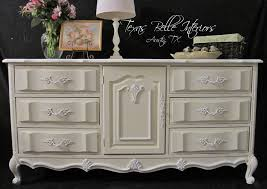image of cream vintage dresser