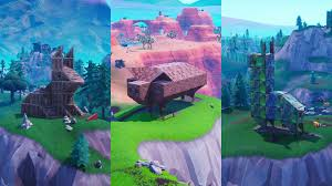 where to visit a wooden rabbit a stone pig and a metal llama in fortnite season 8 week 6 challenge radar
