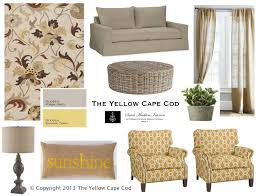Yellow And Gray Living Room The Yellow Cape Cod Warm Gray And Sunny Yellow Living Room