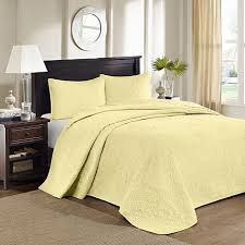 Madison Park Quebec King Quilted Bedspread Set - Yellow - 8331227 ... & Madison Park Quebec King Quilted Bedspread Set - Yellow Adamdwight.com