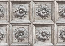 Ethan Allen Wallpaper Designs Ravenswood Distressed Wood Panel Vintage Style Wallpaper