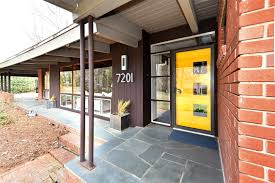 mid century modern front porch. The Current Sellers Are Only Second Owners Of Home And Took Great Pride In Preserving All Mid-century Modern Details While Renovating It. Mid Century Front Porch A