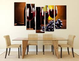 5 piece group canvas dining room canvas wall art drink artwork grapes large on wine and dine canvas wall art with 5 piece huge canvas print wine glass canvas wall art wine bottle