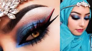 bollywood makeup look asian bridal look blue and red inspiration makeup tutorial by alin pescina makeup