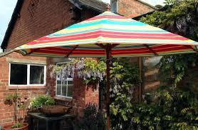 striped patio umbrella large black and tan