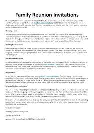 Solicitation Letter Family Reunion Letter Template Family Reunion Letters Template