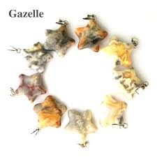 gazelle natural stone pendant star charms crazy agates pendants necklaces for women diy jewelry making