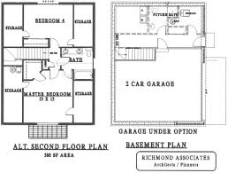 Two Floor Architecture Plan of House Architecture Two Storey House    Richmond Associates Architects Provide Online House Plans A Unique House Design With Two Floor And Huge Garage The First Floor And Secon Floor Plan Of A