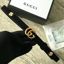 double g gucci belt leather with buckle black womens size